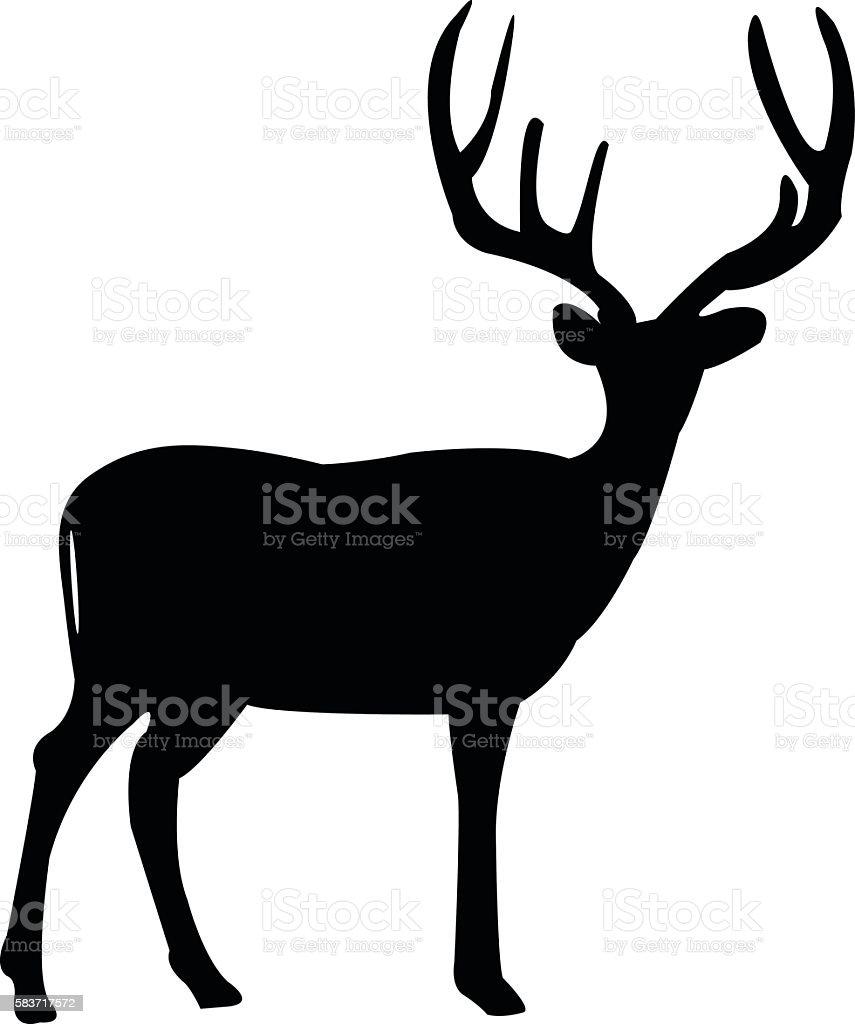 deer silhouette vector art illustration