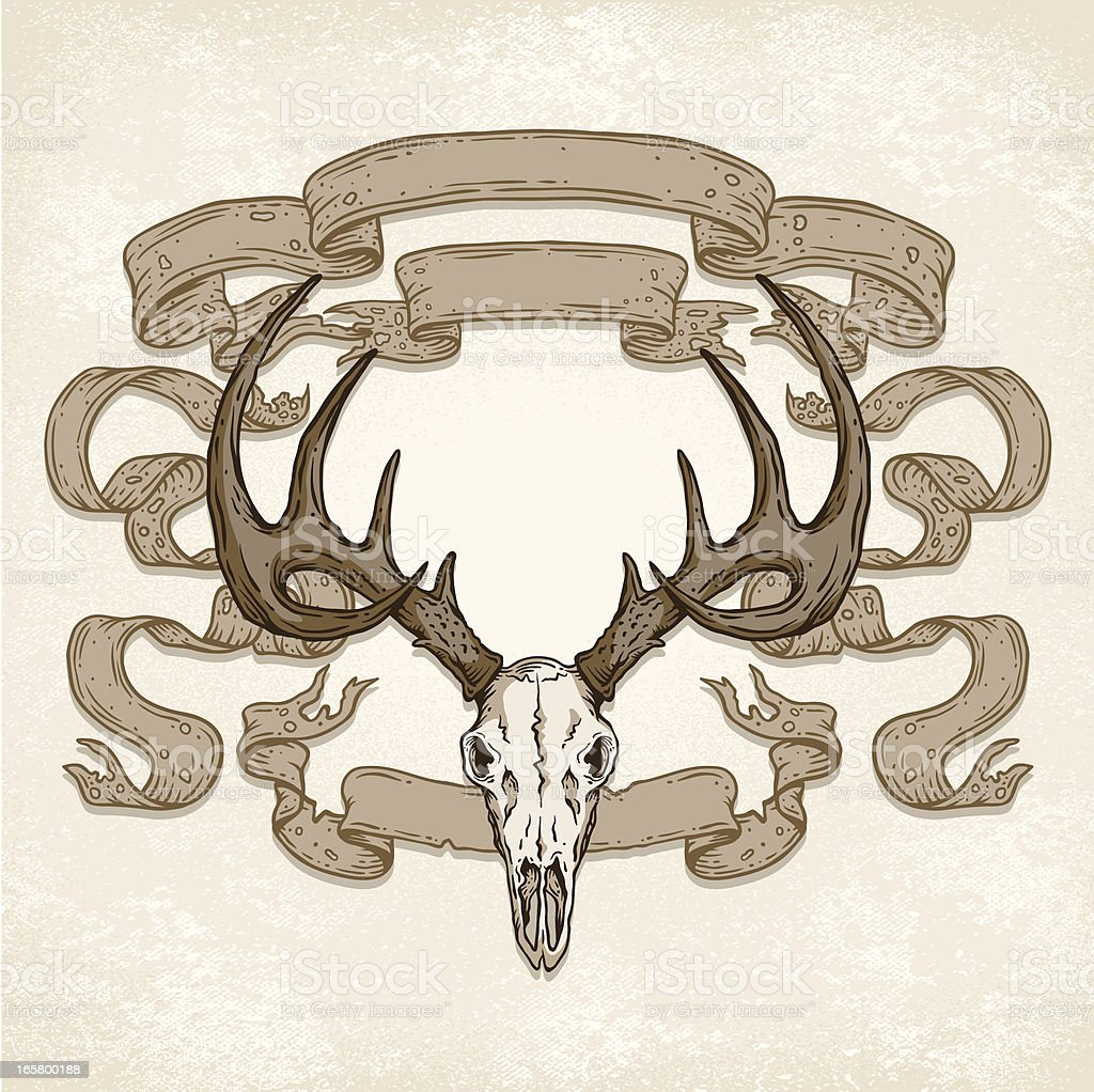 Deer Skull Banners royalty-free stock vector art