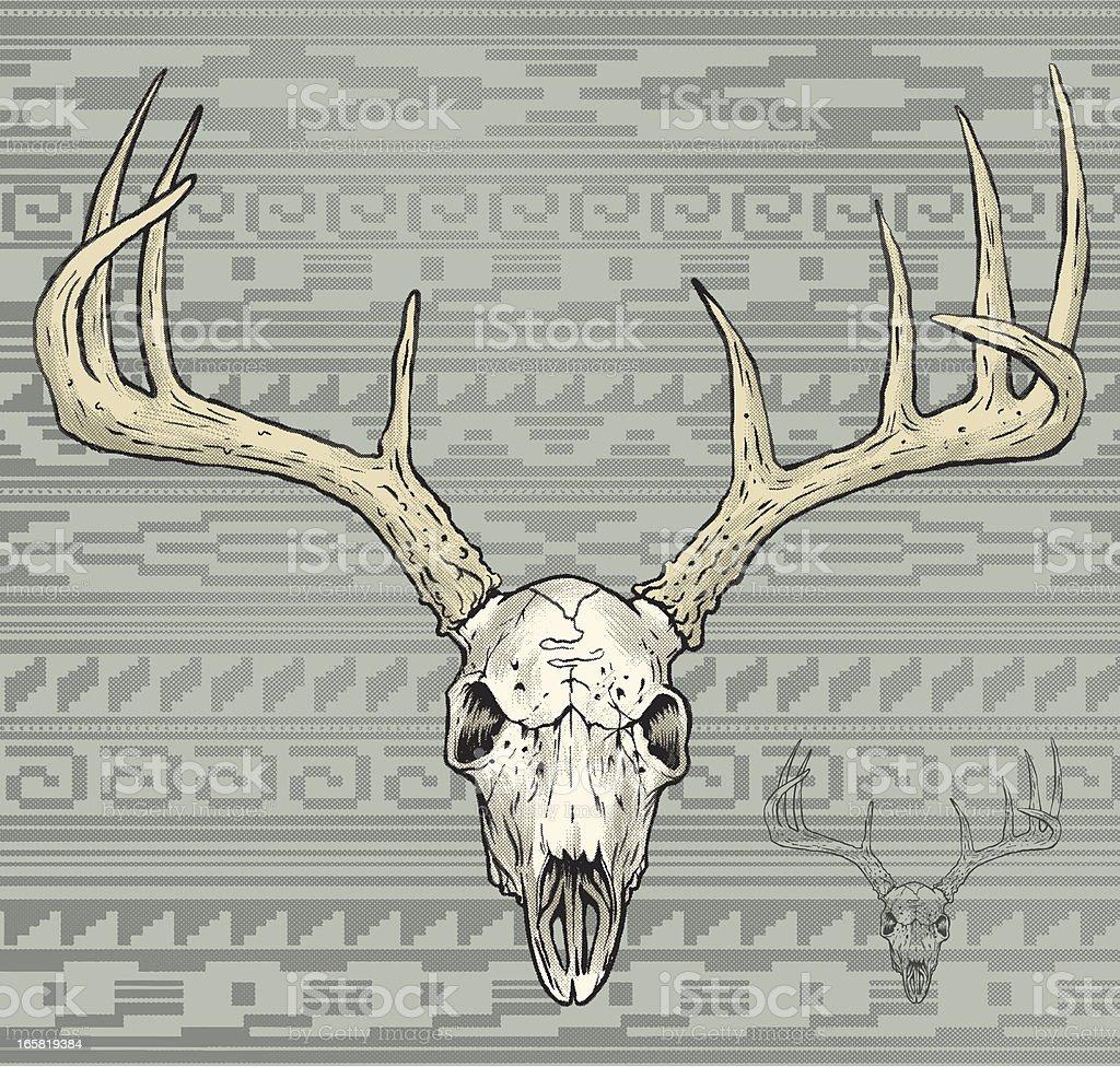 deer skull in a aztec world royalty-free stock vector art