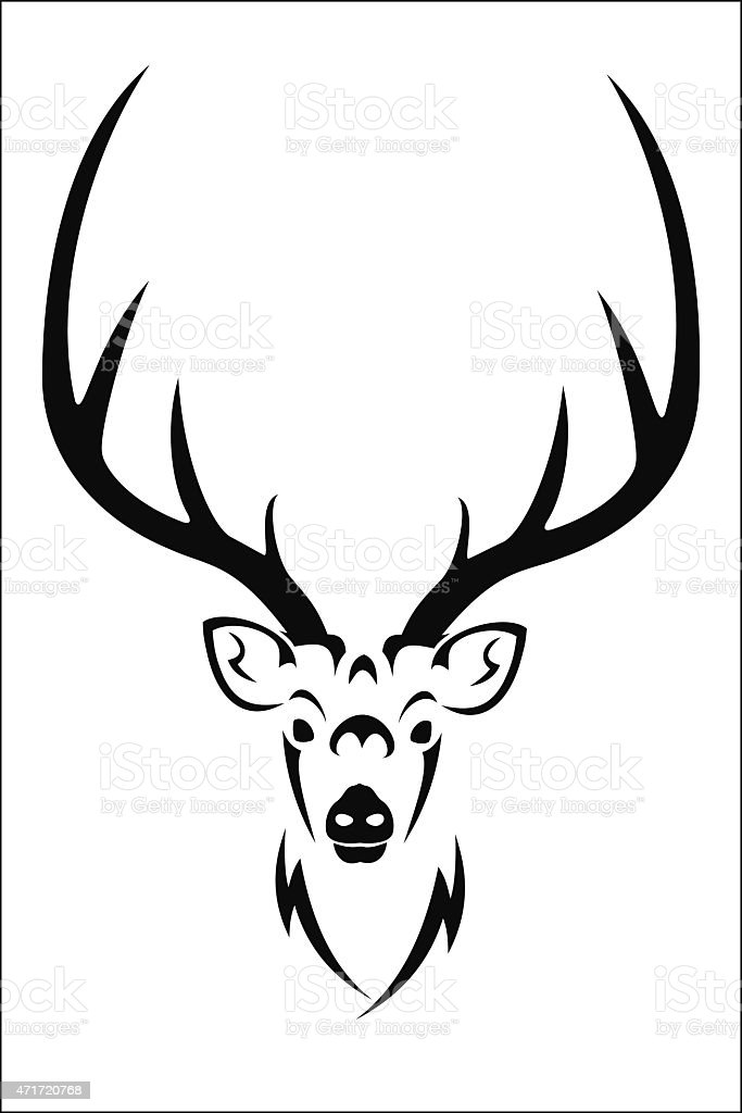 Deer symbol royalty-free stock vector art