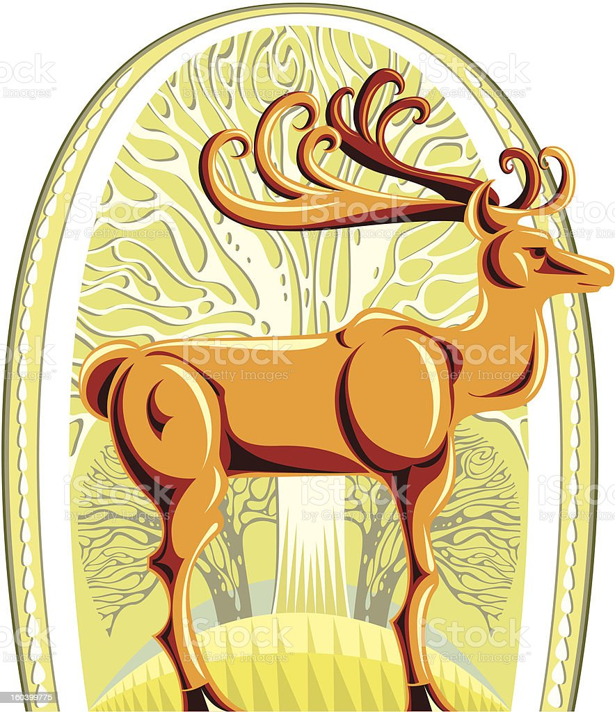 Deer. royalty-free stock vector art