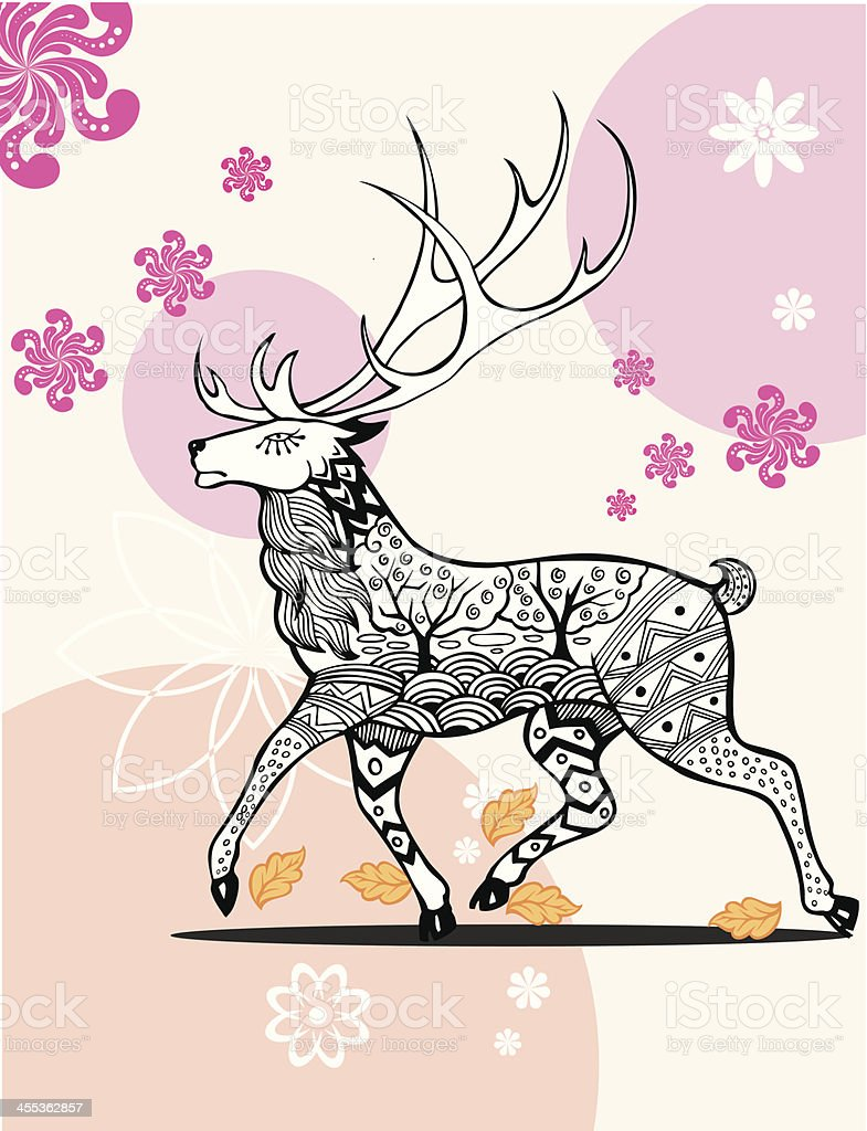 Deer vector art illustration