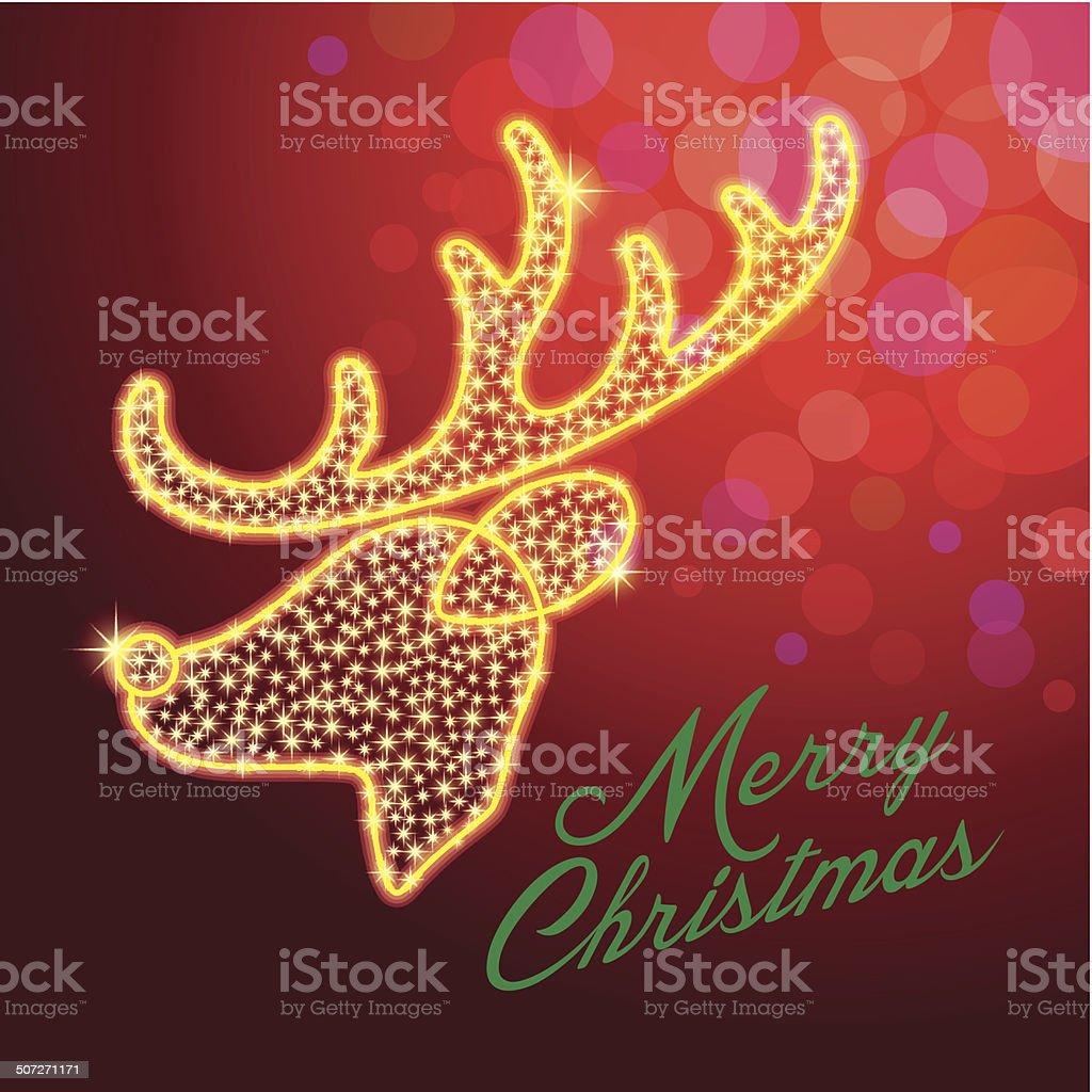 deer,reindeer,merry christmas,star royalty-free stock vector art