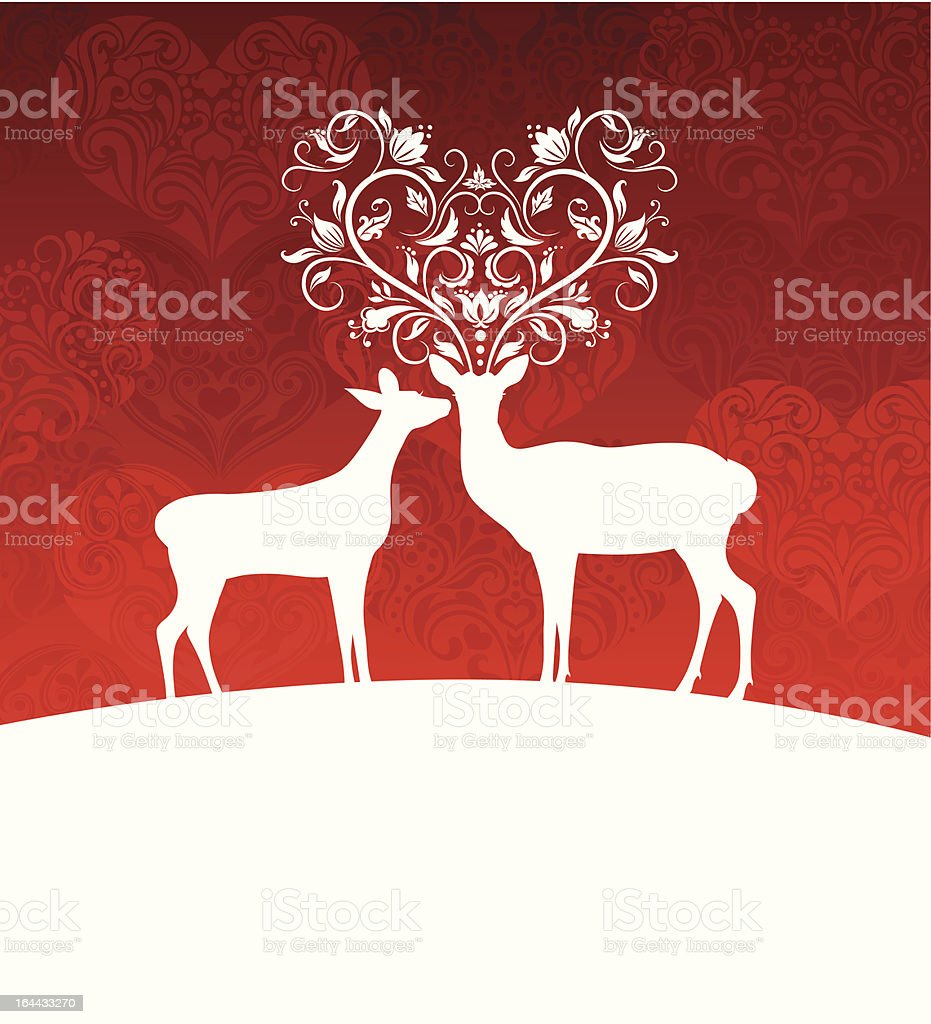 Deers. royalty-free stock vector art