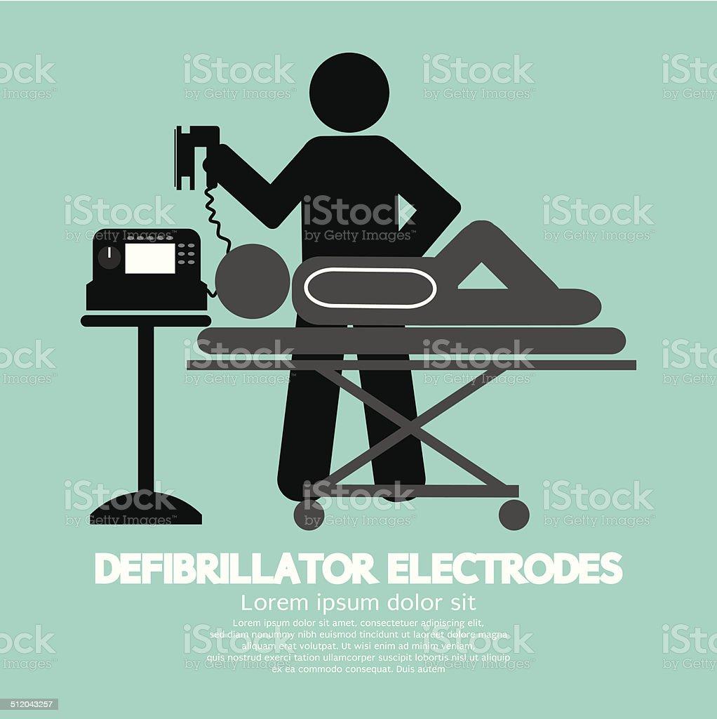 Defibrillator Electrodes Symbol Vector Illustration vector art illustration