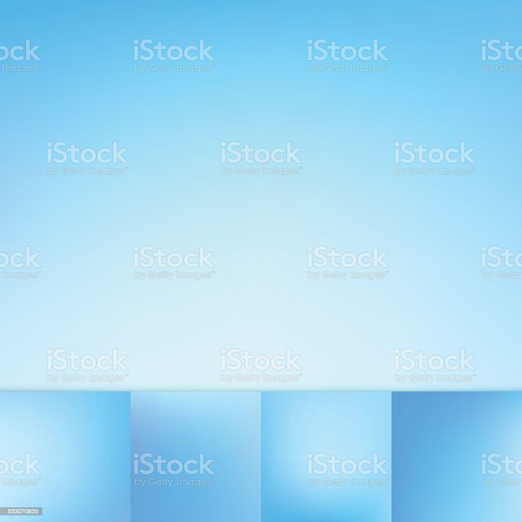 Defocus Blue Color Gradient Vector Background Collection vector art illustration