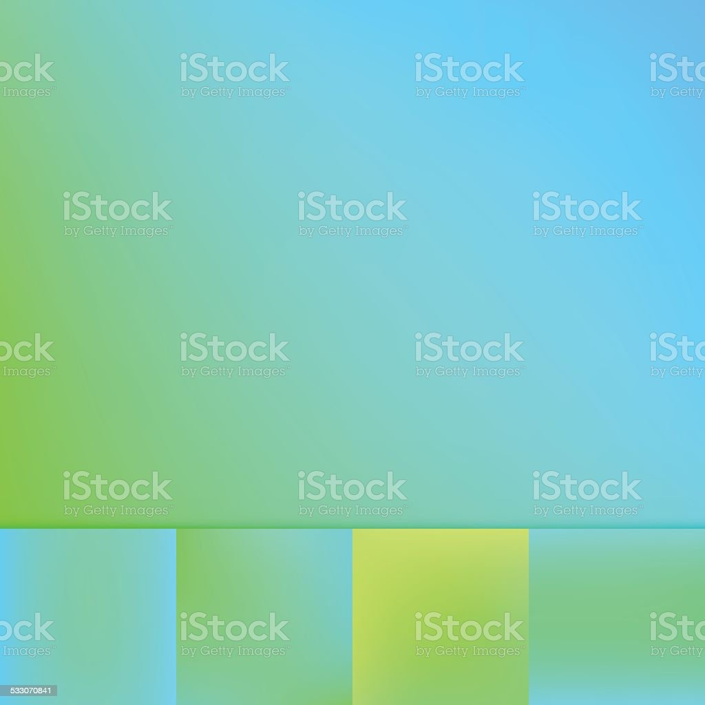 Defocus Color Gradient Vector Background Collection Green Blue vector art illustration