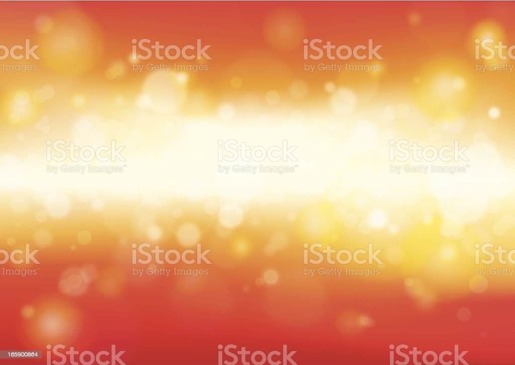 Defocus Orange Light vector art illustration