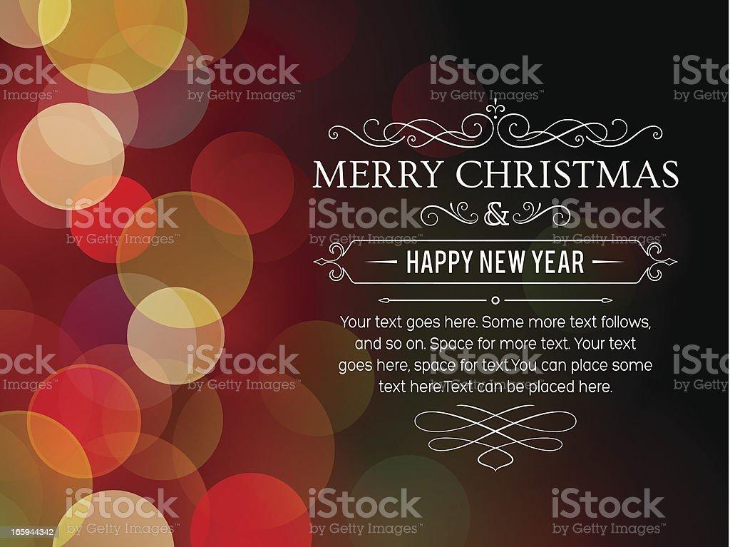 Defocused Christmas Lights Background royalty-free stock vector art