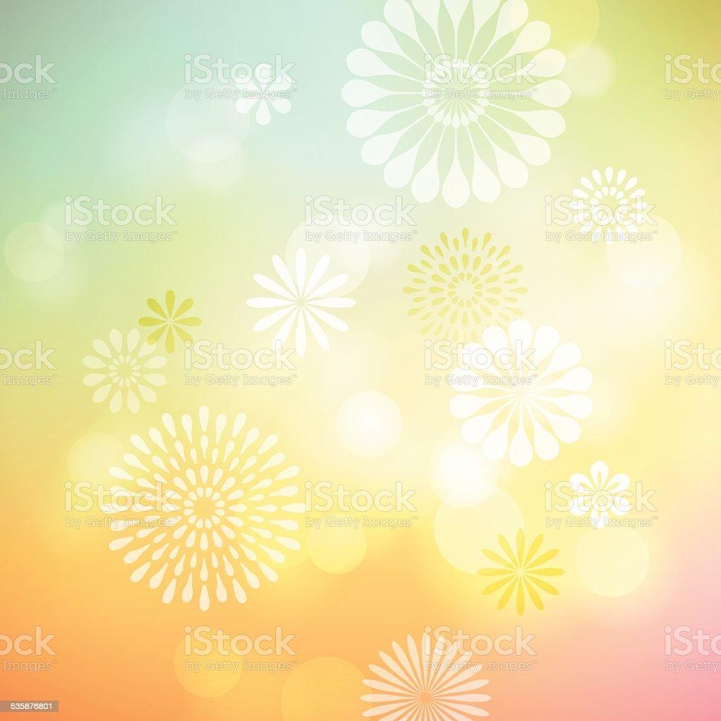 Defocused Flower Background vector art illustration