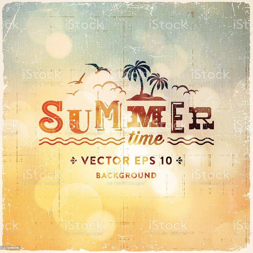 Defocused Retro Summer Background vector art illustration