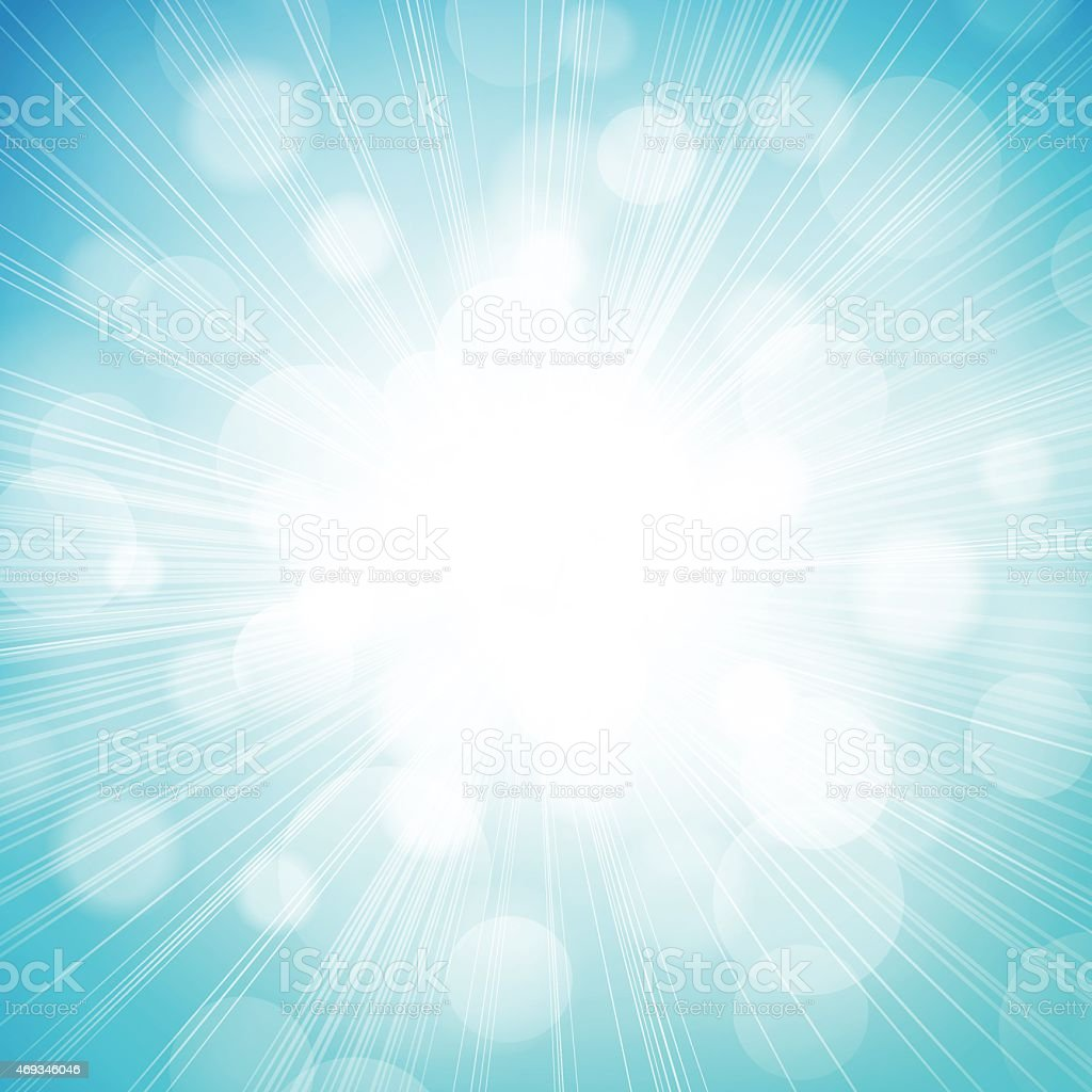 Defocused Sunlight Burst Background vector art illustration