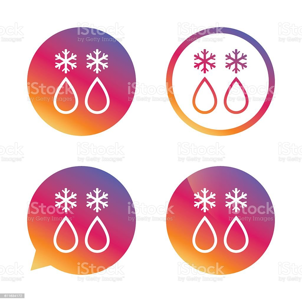 Defrosting sign icon. From ice to water symbol. vector art illustration