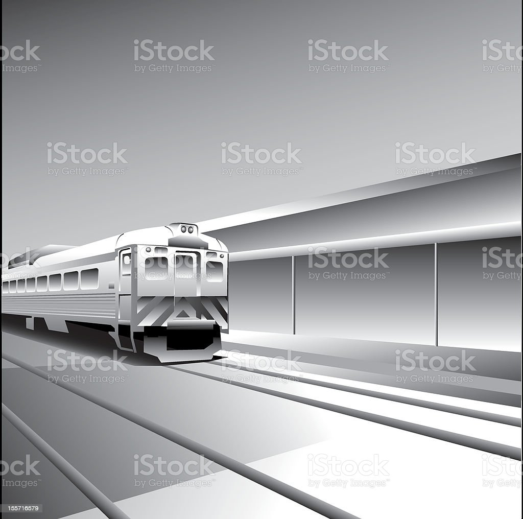 Degradee Train vector art illustration