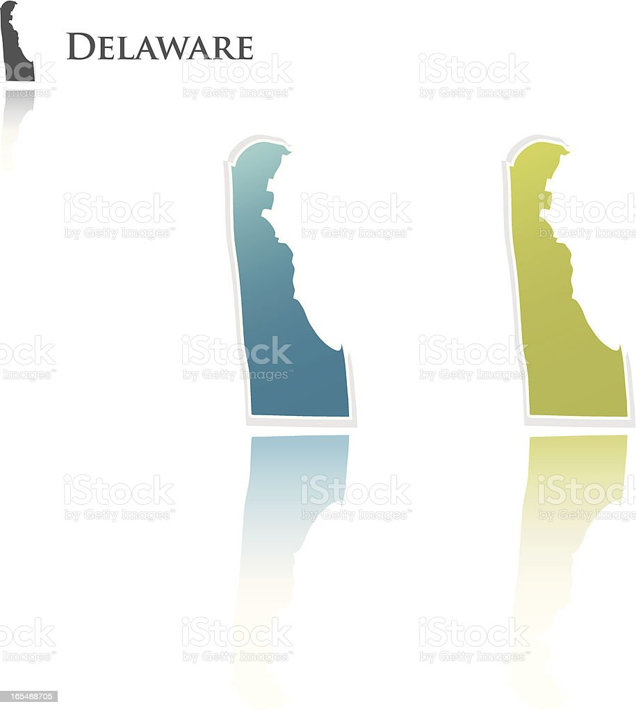 Delaware state graphic royalty-free stock vector art