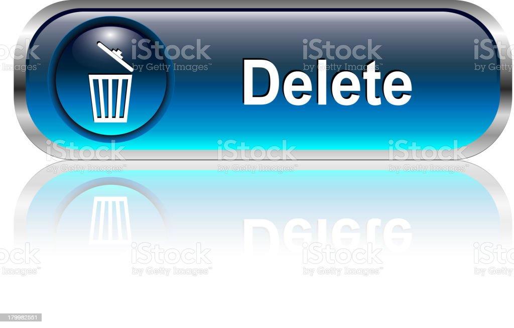 Delete Button royalty-free stock vector art