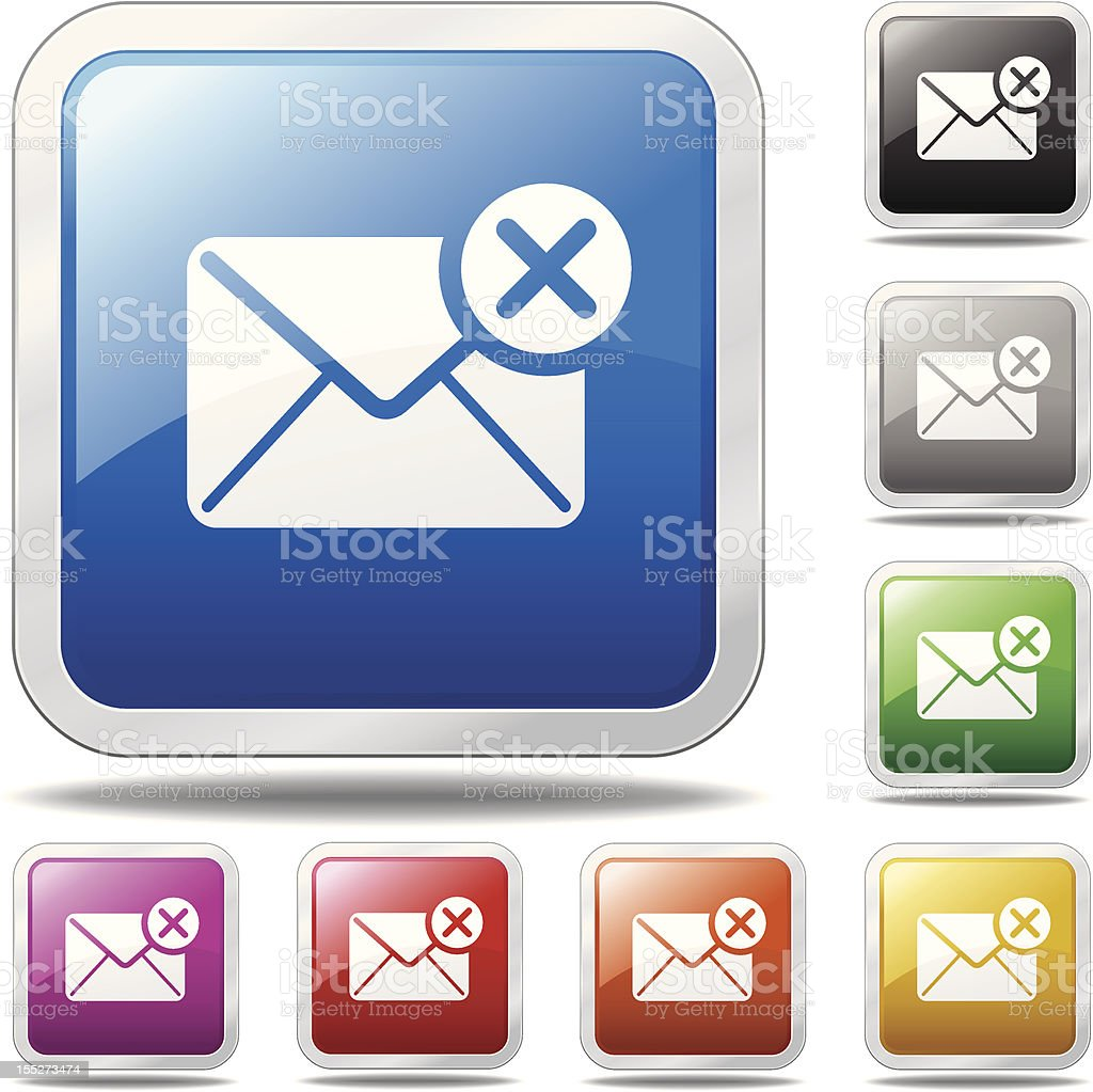 Delete Email Icon royalty-free stock vector art