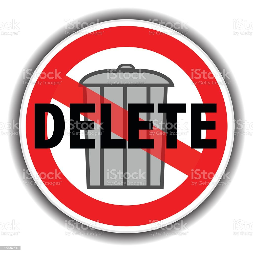 Delete Sign royalty-free stock vector art
