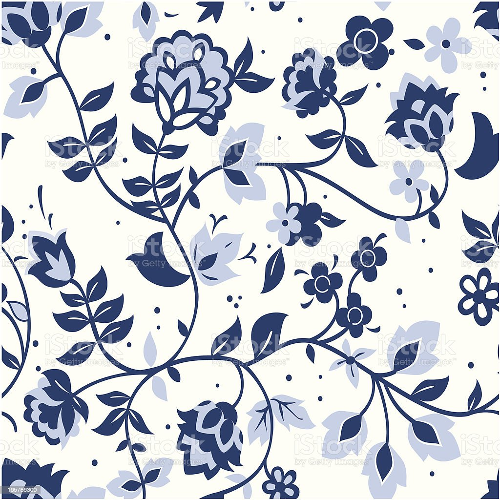 Delft blue pattern swatch royalty-free stock vector art
