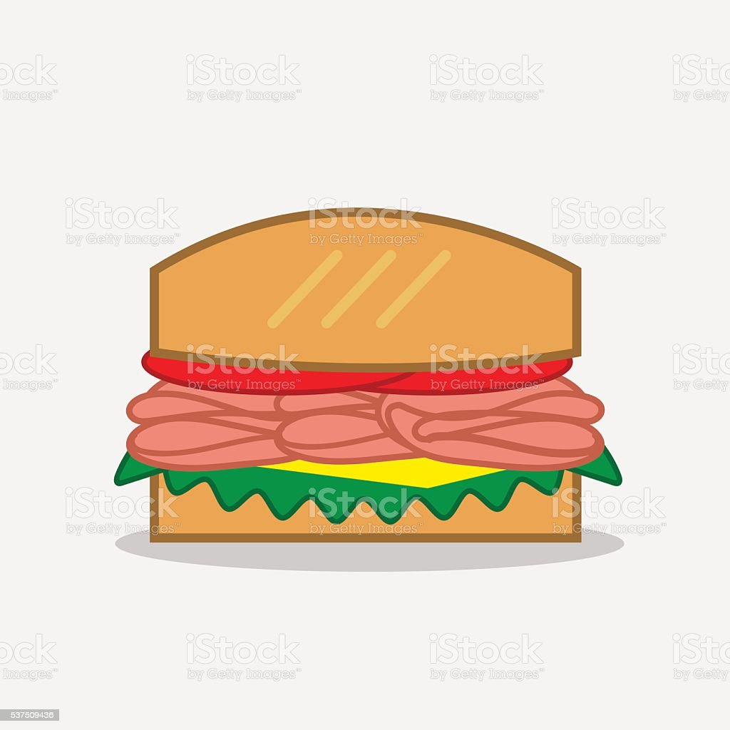Deli Sandwich vector art illustration