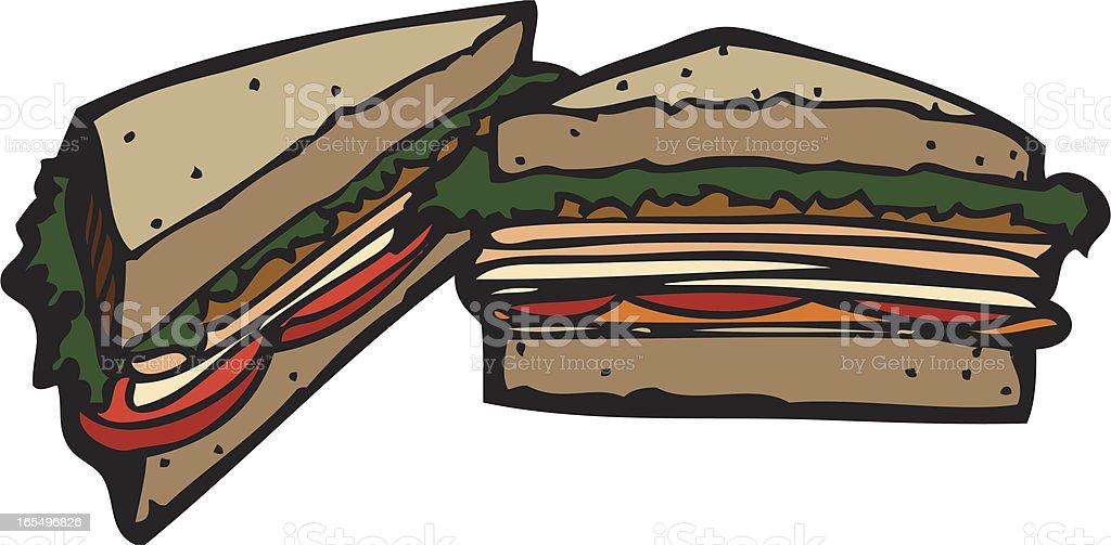 Deli Sandwiches vector art illustration