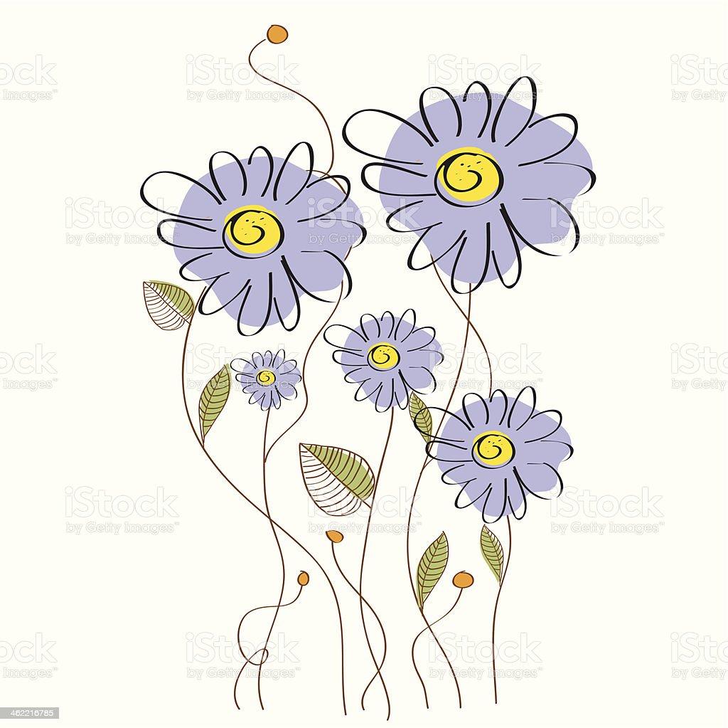 delicate floral background vector art illustration