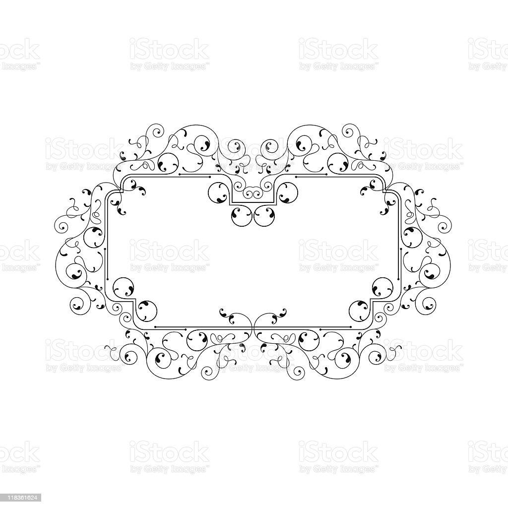Delicate Frame royalty-free stock vector art