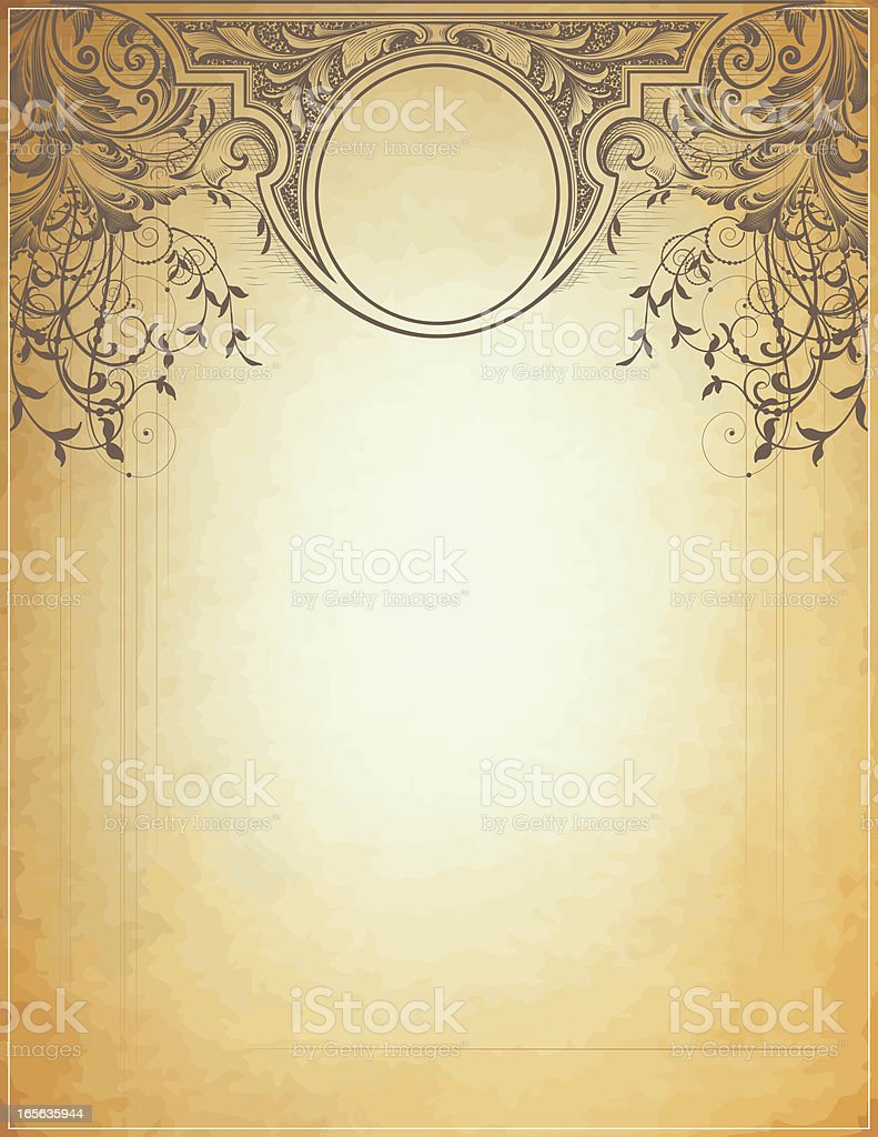 Delicate Scroll and Banner vector art illustration