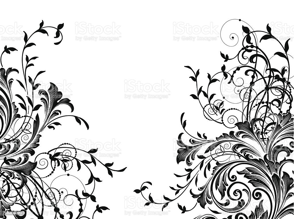 Delicate Scroll Corners royalty-free stock vector art
