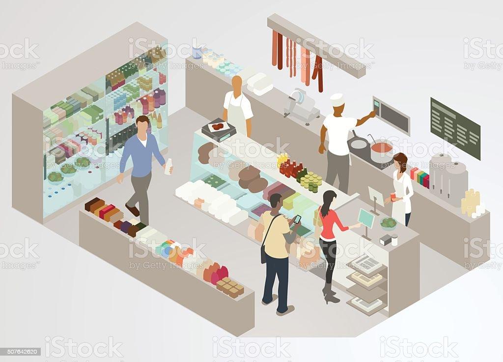 Delicatessen Illustration vector art illustration