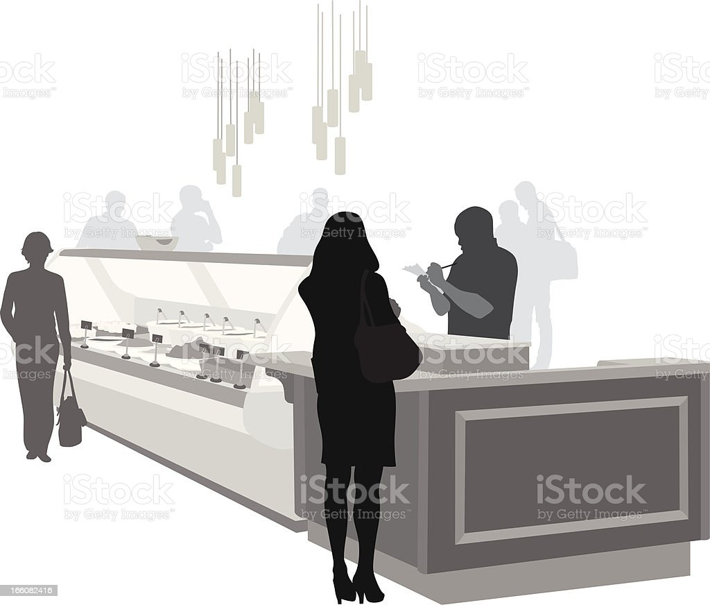 Delicatessen Vector Silhouette royalty-free stock vector art