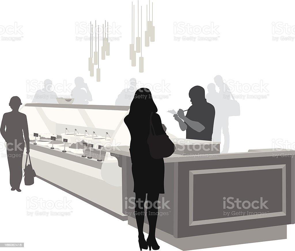 Delicatessen Vector Silhouette vector art illustration