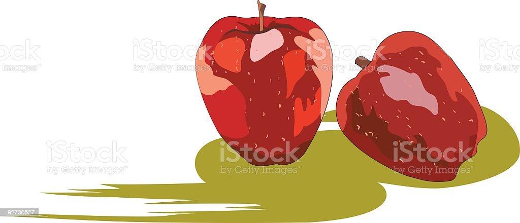 Delicious Apples vector art illustration