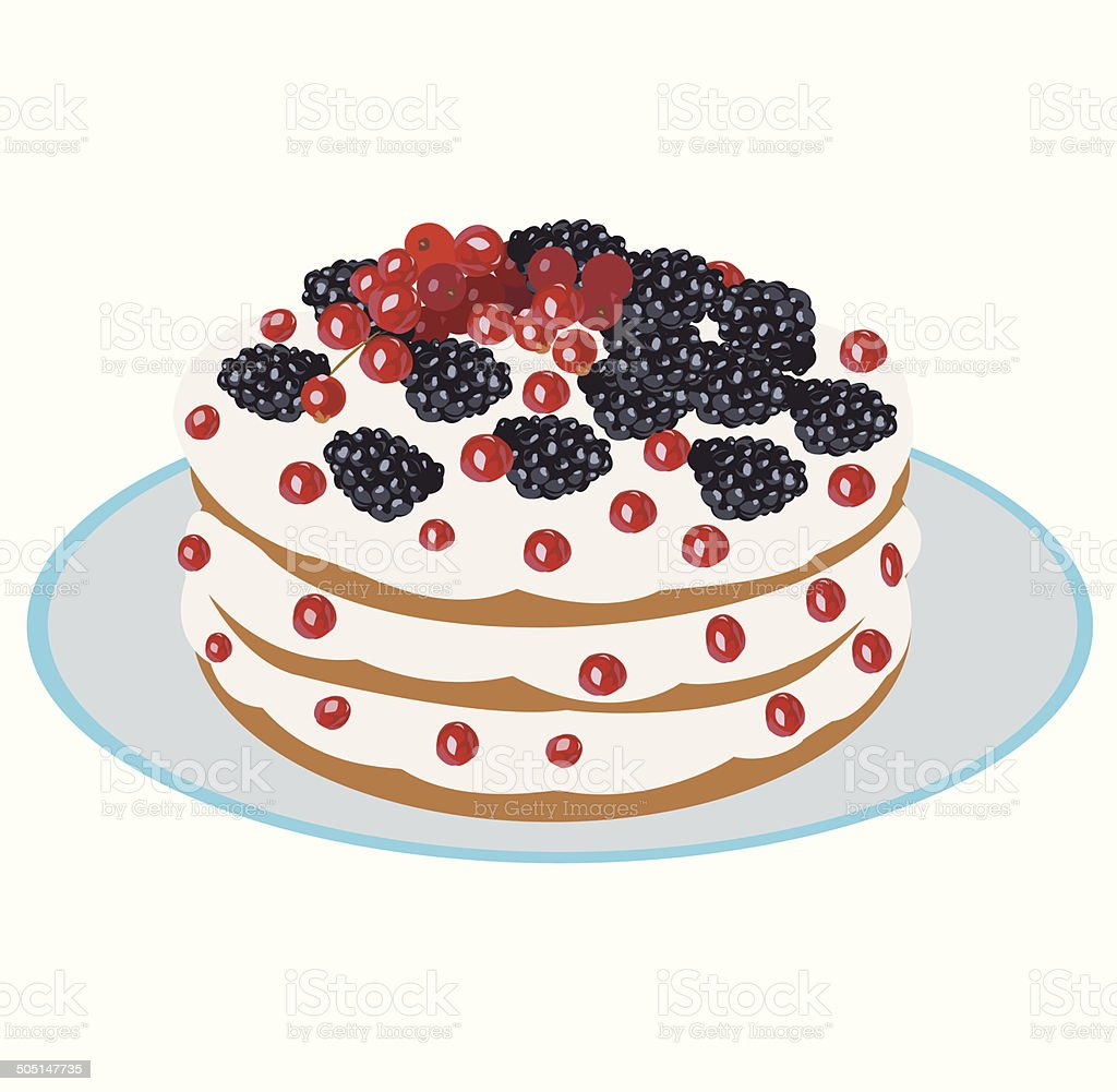 delicious berry cake royalty-free stock vector art