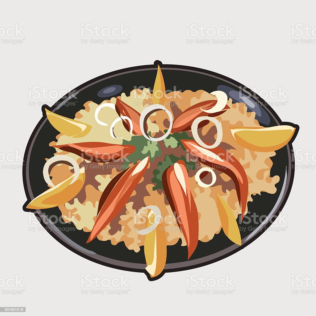 Delicious food image. Icon for your design needs vector art illustration