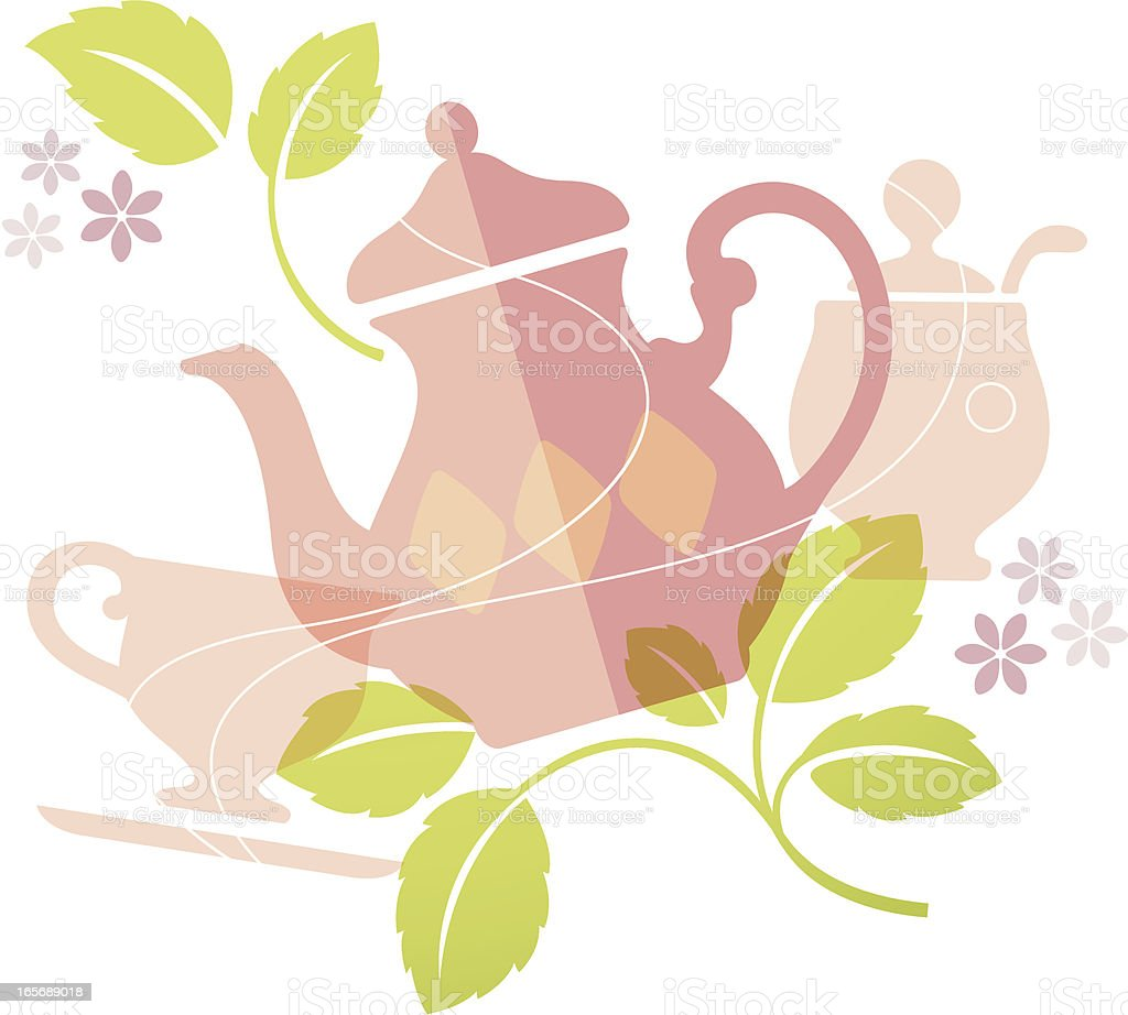 Delicious Living  (English Tea) vector art illustration