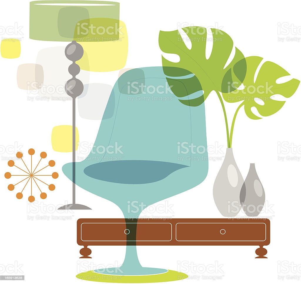 Delicious Living (Interior) vector art illustration
