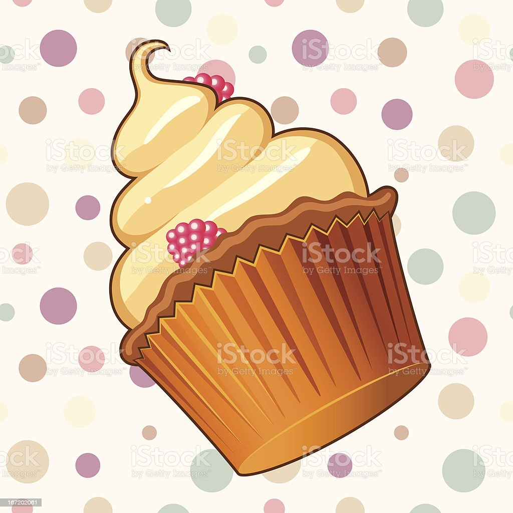 Delicious muffin illustration royalty-free stock vector art