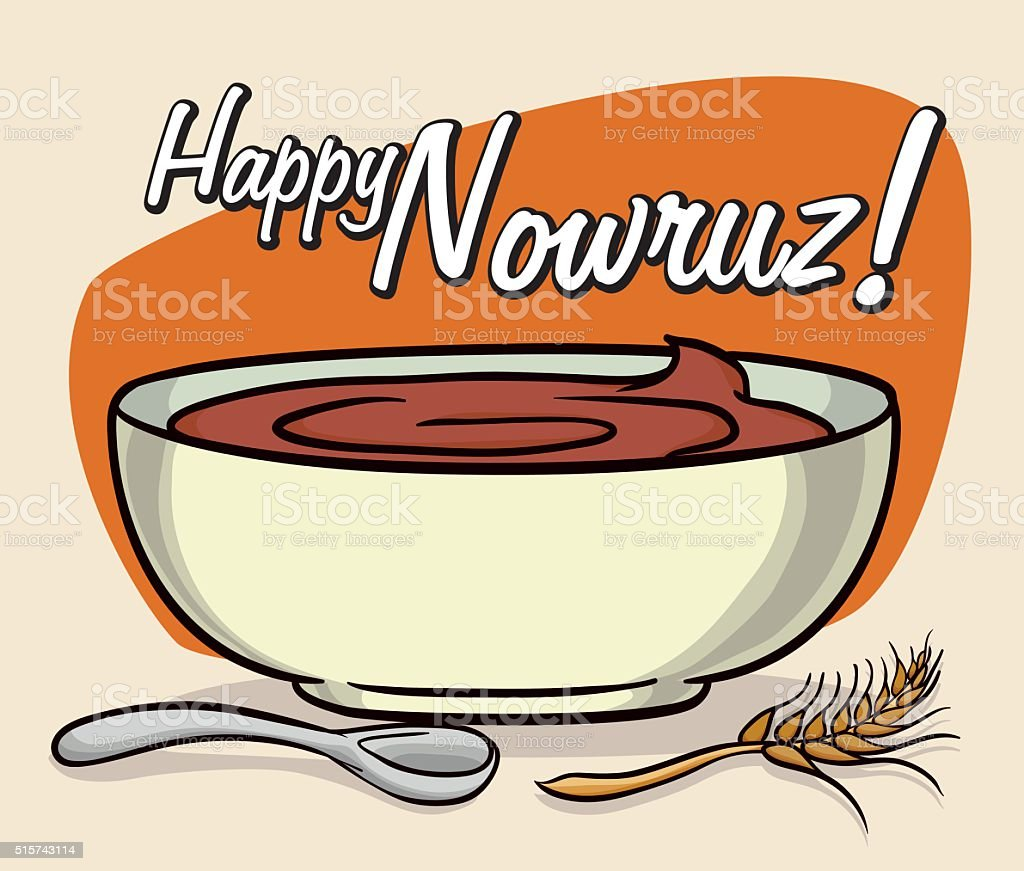 Delicious Samanu for Nowruz Holiday vector art illustration