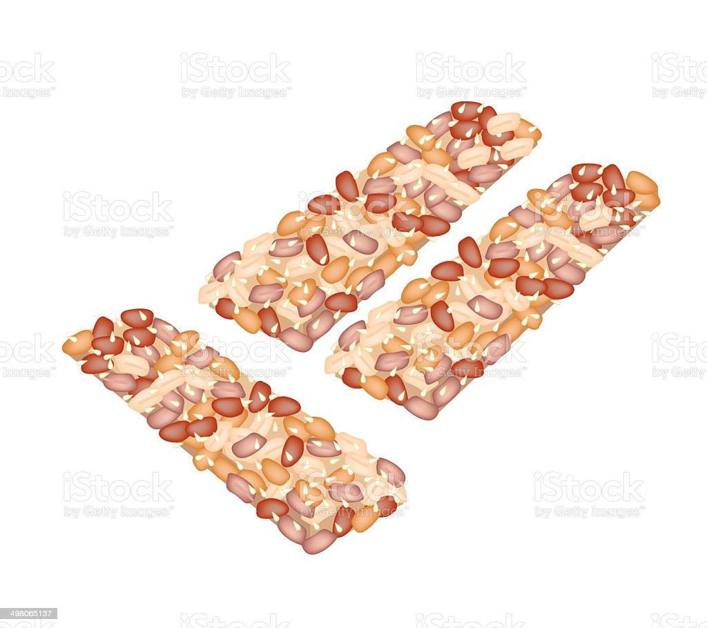 Delicious Thai Snack with Peanut and Sesame royalty-free stock vector art