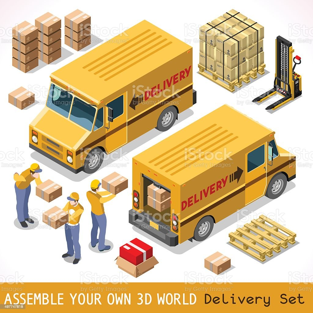 Delivery 06 Infographic Isometric vector art illustration