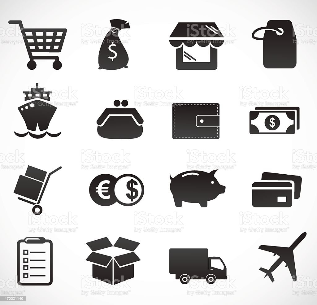 Delivery and commerce icon. vector art illustration