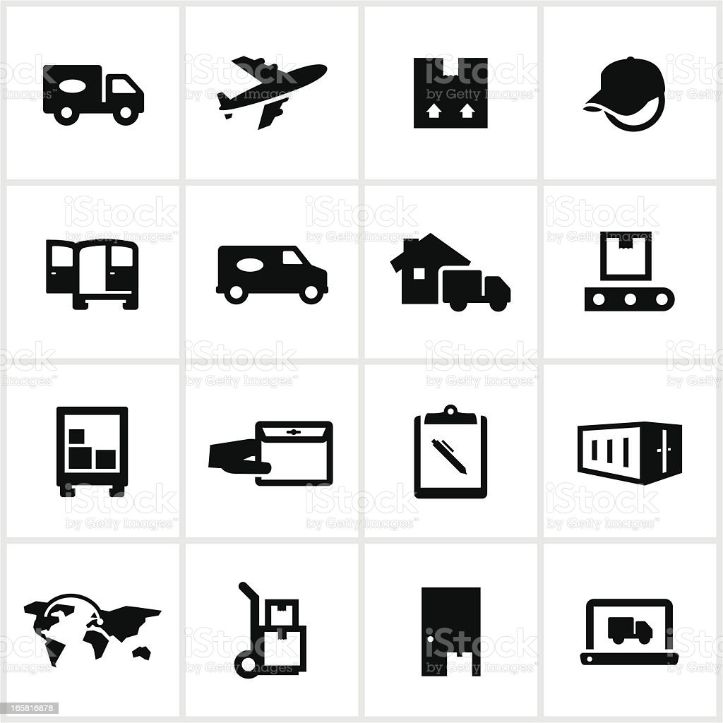 Delivery and Logistics Icons vector art illustration