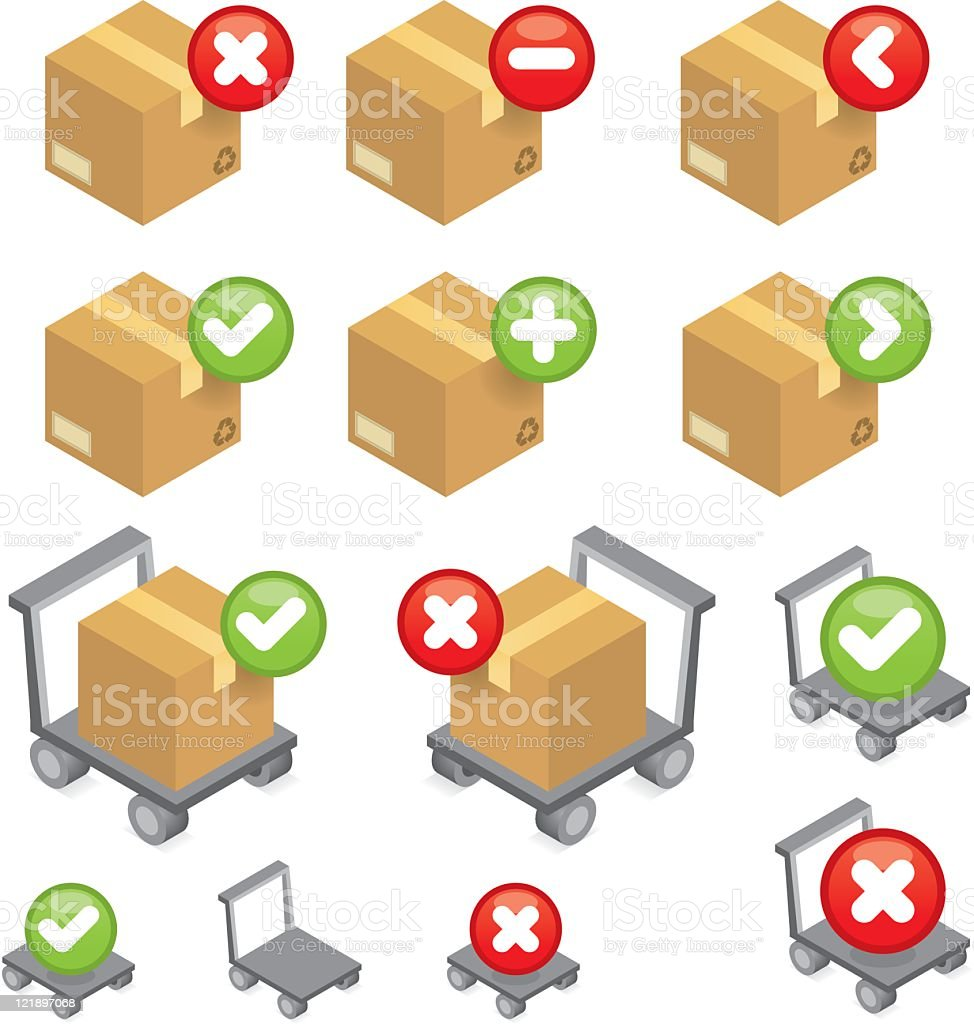 Delivery and packaging web icons royalty-free stock vector art