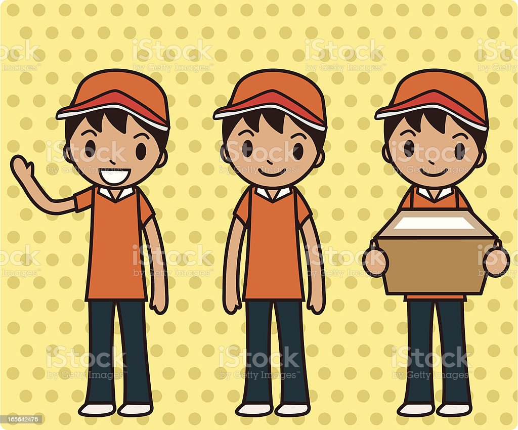 Delivery Boy ( Moving day ) royalty-free stock vector art