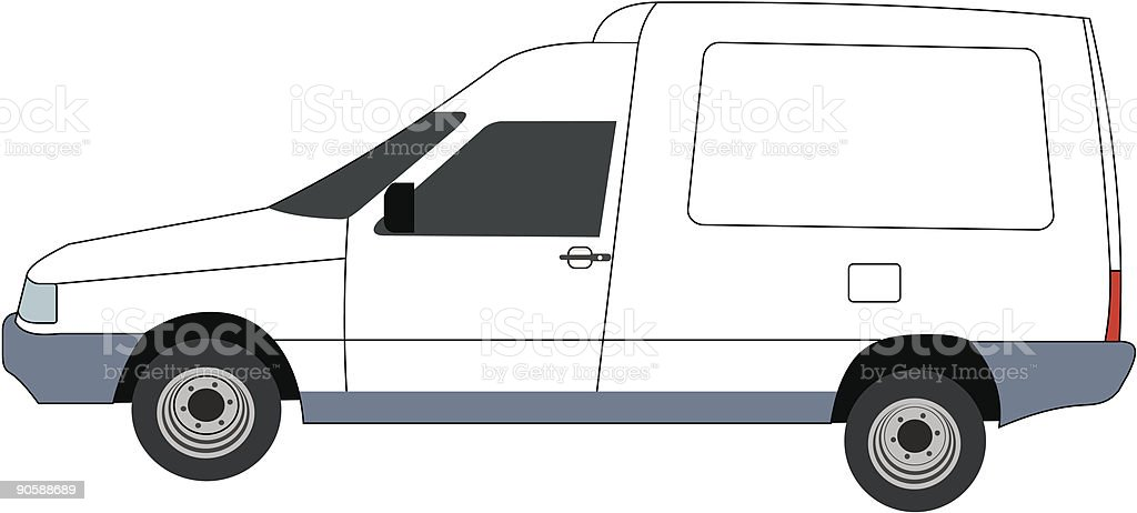 Delivery car !! (vector) royalty-free stock vector art