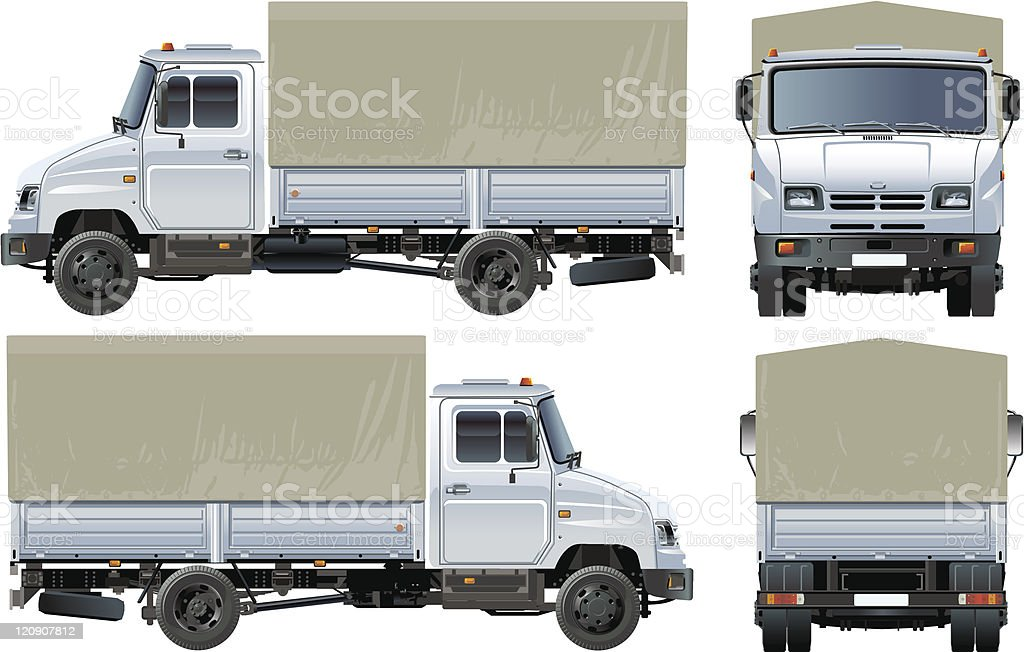 Delivery / cargo truck vector art illustration