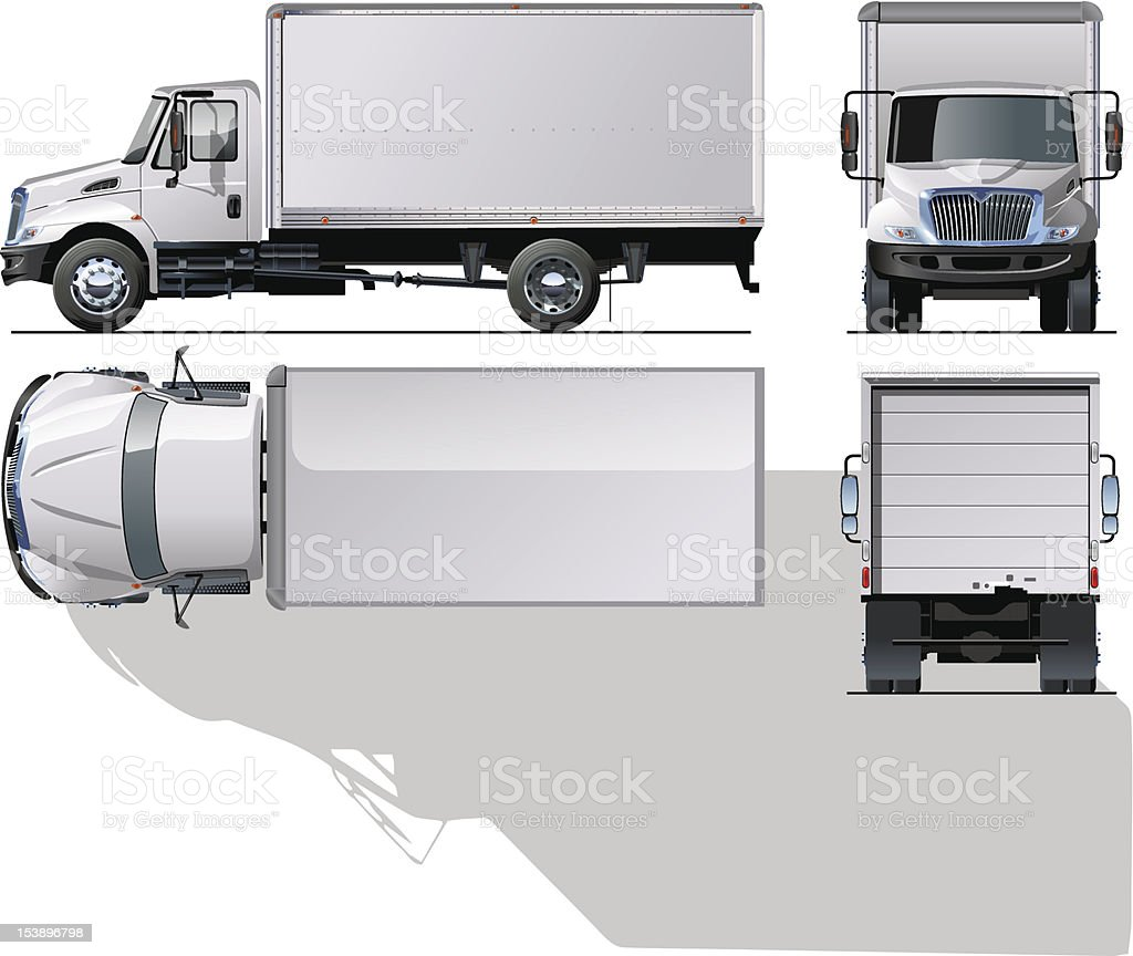 delivery / cargo truck. vector art illustration