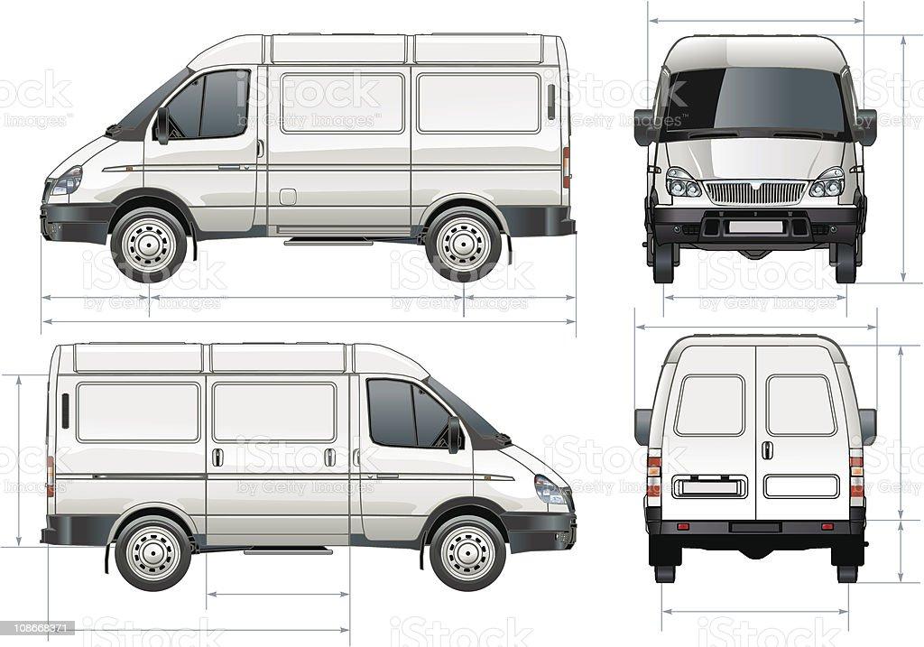 Delivery / cargo van vector art illustration