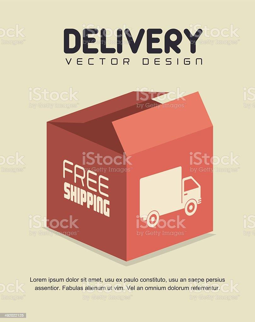 delivery design vector art illustration